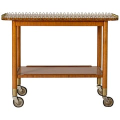 Swedish Modern Mahogany Bar Trolley