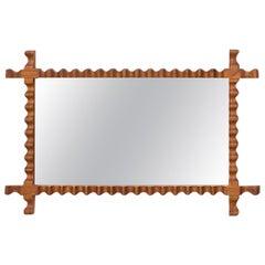 Swedish Modern Mirror in Elm