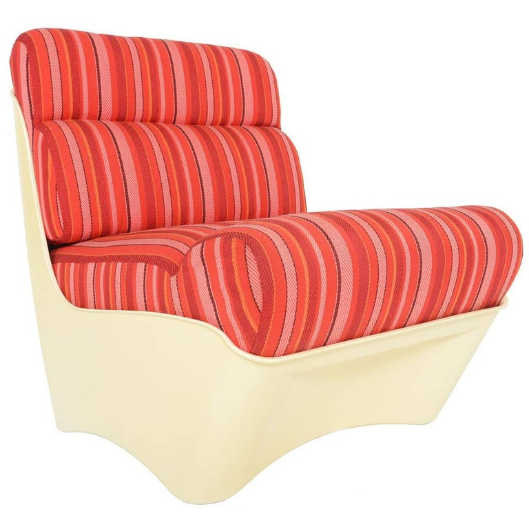Swedish Modern Molded Plastic Slipper Chair