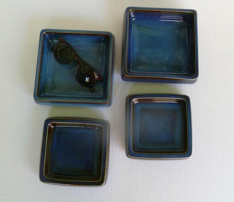 Swedish Modern Pair of Lagun 3 Stoneware Bowls for Gustavberg by Sven Jonson For Sale 6