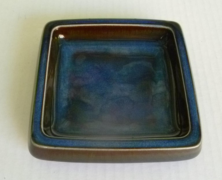 Swedish Modern Pair of Lagun 3 Stoneware Bowls for Gustavberg by Sven Jonson In Good Condition For Sale In Miami, FL