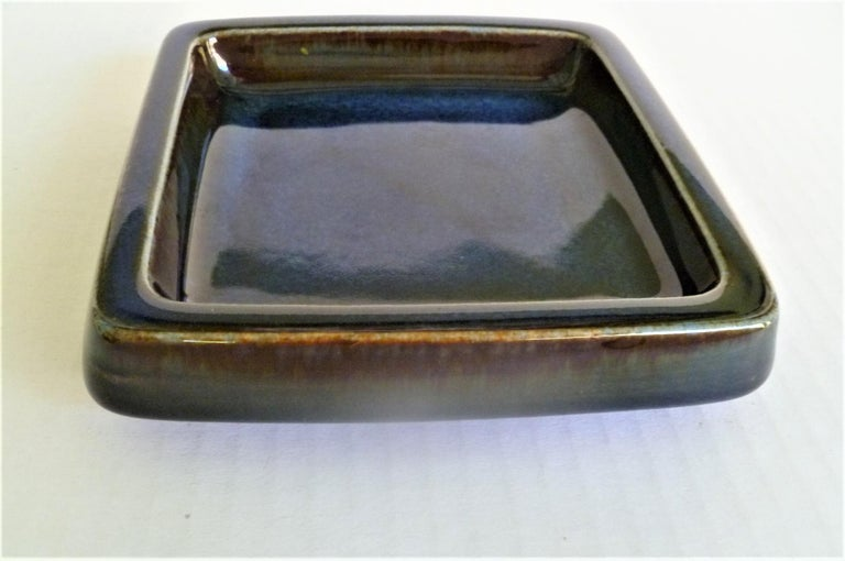 Late 20th Century Swedish Modern Pair of Lagun 3 Stoneware Bowls for Gustavberg by Sven Jonson For Sale