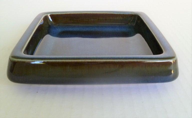 Ceramic Swedish Modern Pair of Lagun 3 Stoneware Bowls for Gustavberg by Sven Jonson For Sale