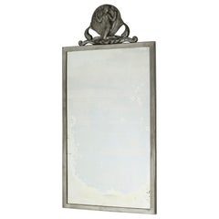 Swedish Modern Pewter Wall Mirror from Ystad Metall