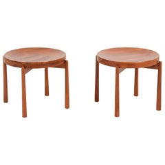 Swedish Modern Reversible Tray Top Side Tables by DUX
