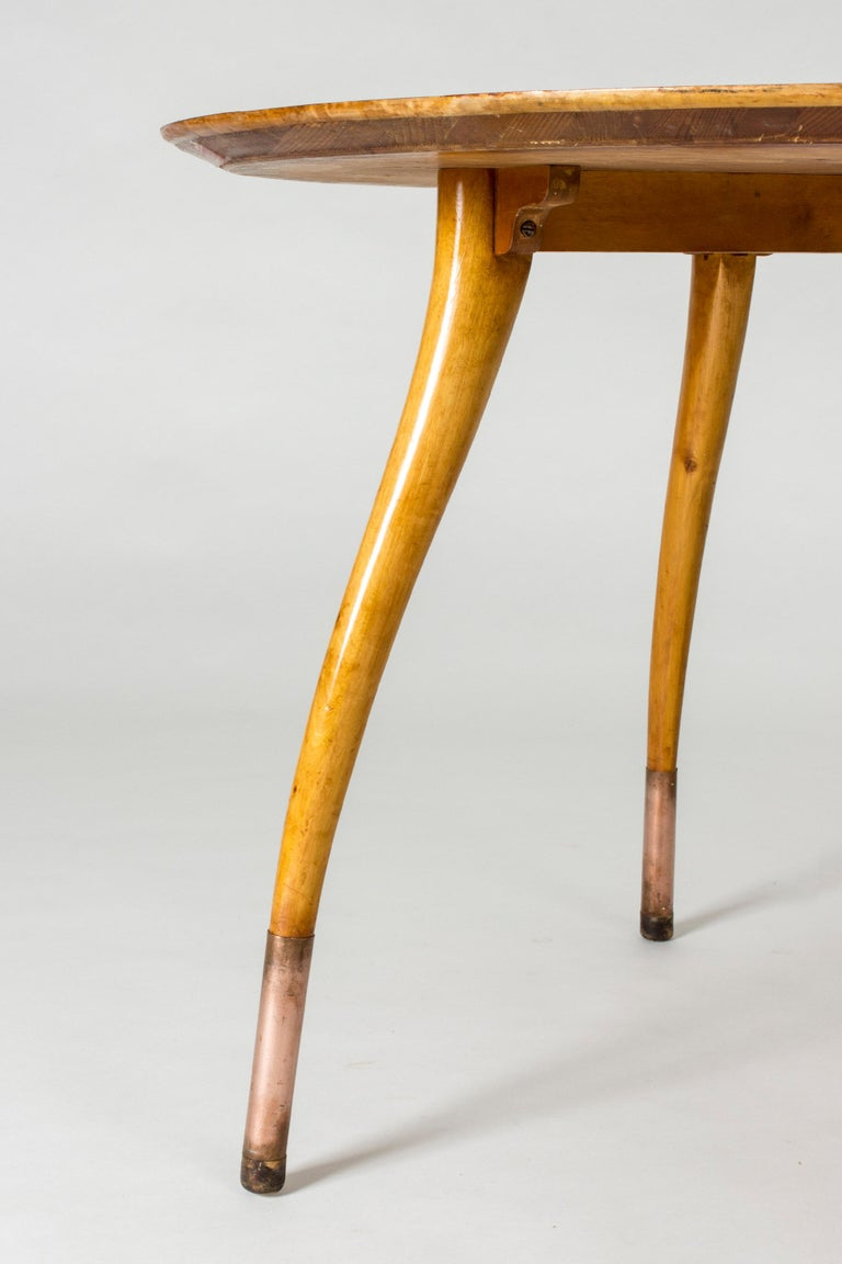 Beech Swedish Modern Root Occasional Table For Sale