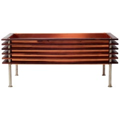 Swedish Modern Rosewood and Copper Planter Jardiniere for Troeds 1960's