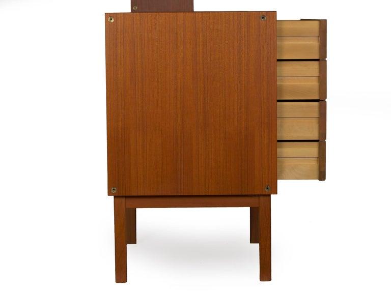 Swedish Modern Teak Bedroom Dresser Set and Desk by Bertil Fridhagen, circa 1964 For Sale 4