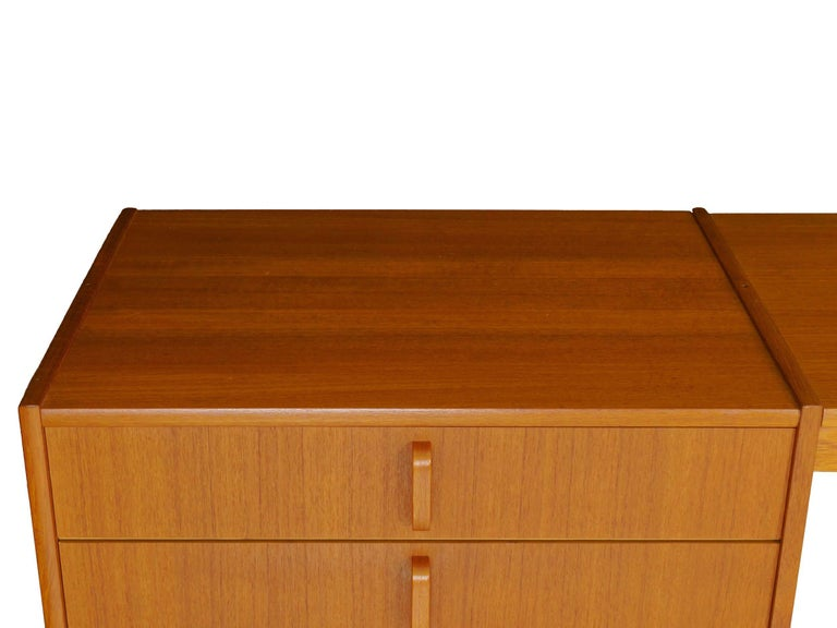 Swedish Modern Teak Bedroom Dresser Set and Desk by Bertil Fridhagen, circa 1964 For Sale 6