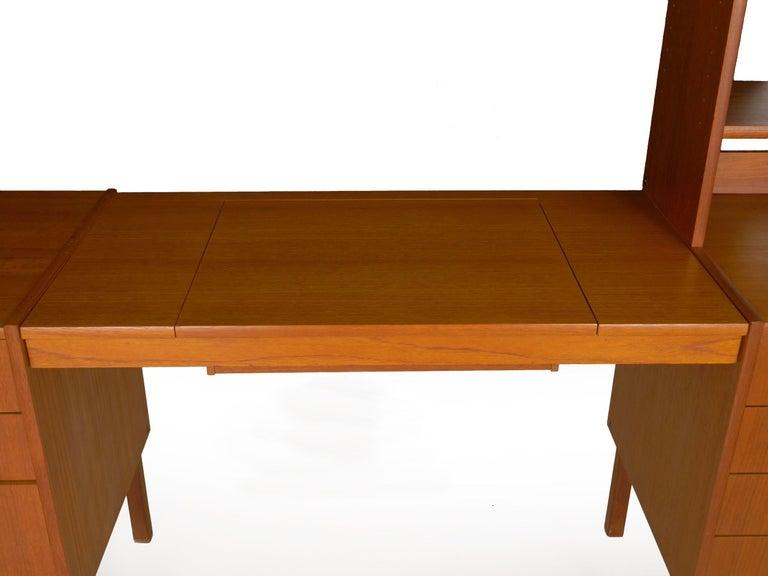 Swedish Modern Teak Bedroom Dresser Set and Desk by Bertil Fridhagen, circa 1964 For Sale 7