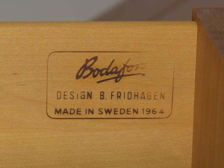 Swedish Modern Teak Bedroom Dresser Set and Desk by Bertil Fridhagen, circa 1964 For Sale 13