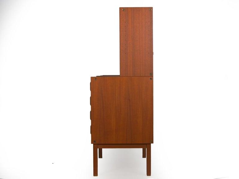 Mid-Century Modern Swedish Modern Teak Bedroom Dresser Set and Desk by Bertil Fridhagen, circa 1964 For Sale