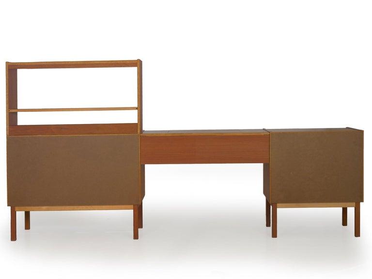 20th Century Swedish Modern Teak Bedroom Dresser Set and Desk by Bertil Fridhagen, circa 1964 For Sale