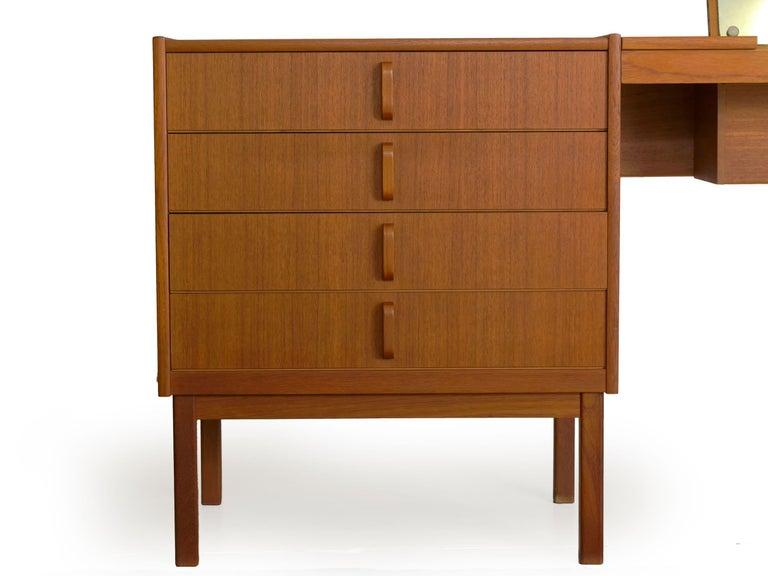 Swedish Modern Teak Bedroom Dresser Set and Desk by Bertil Fridhagen, circa 1964 For Sale 1