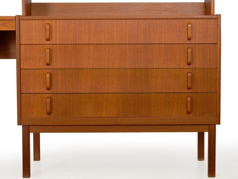Swedish Modern Teak Bedroom Dresser Set and Desk by Bertil Fridhagen, circa 1964 For Sale 2