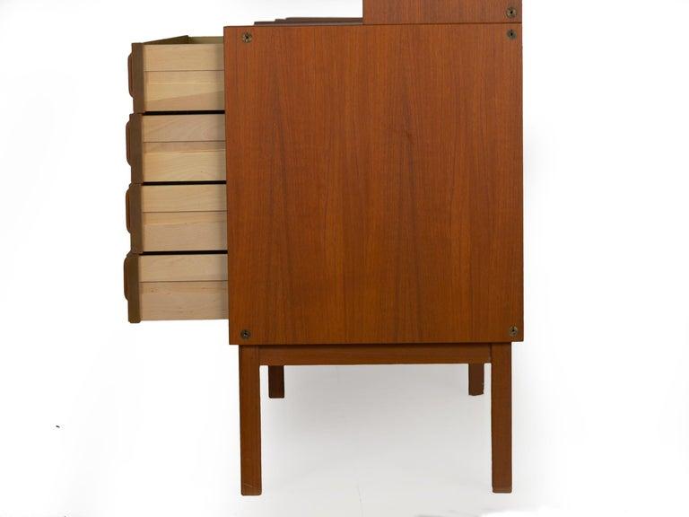 Swedish Modern Teak Bedroom Dresser Set and Desk by Bertil Fridhagen, circa 1964 For Sale 3