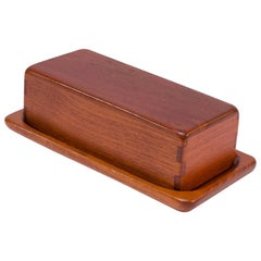 Swedish Modern Teakwood Butter Dish by Sigvard Nilsson for AB Söwe-Konst