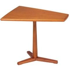Swedish Modern Tri-Leg Teak Side Table by DUX