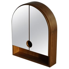 Swedish Modern Wall Mirror in Pine, Unknown Cabinetmaker, 1970s