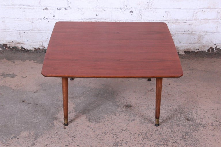 Mid-Century Modern Swedish Modern Walnut Coffee Table Attributed to Folke Ohlsson for DUX For Sale