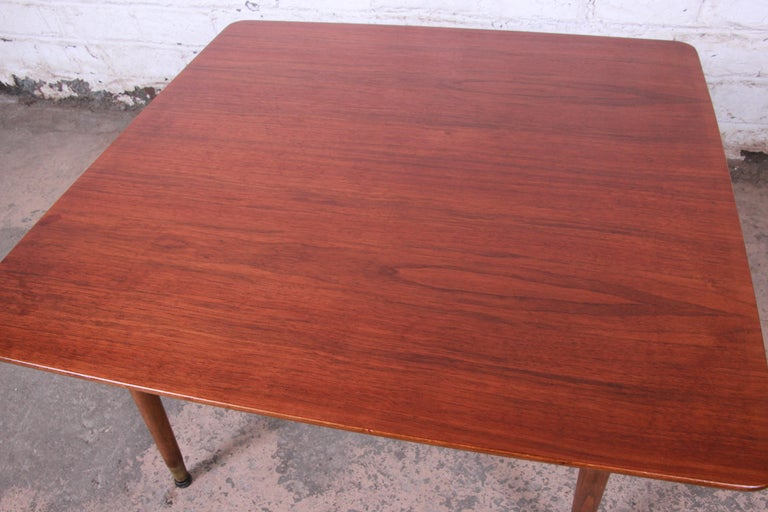 Mid-20th Century Swedish Modern Walnut Coffee Table Attributed to Folke Ohlsson for DUX For Sale