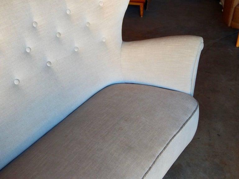 Mid-20th Century Swedish Moderne Winged Back Sofa, circa 1940 For Sale