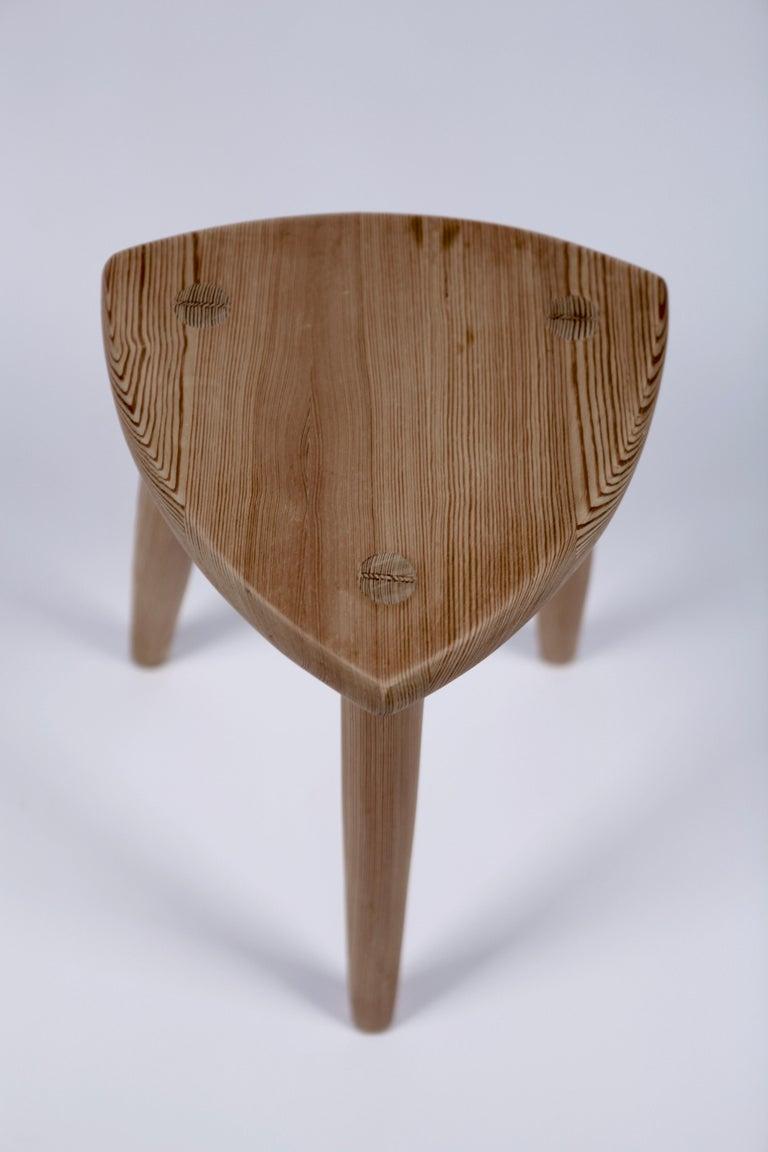 Scandinavian Modern Swedish Modernist Designer, Pine Stool, 1950s For Sale
