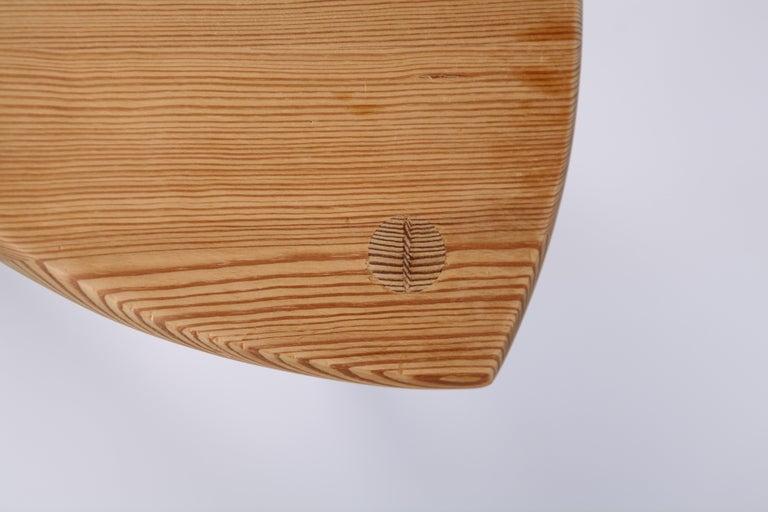 Mid-20th Century Swedish Modernist Designer, Pine Stool, 1950s For Sale
