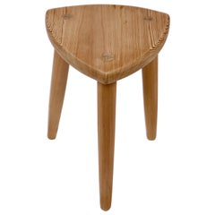 Swedish Modernist Designer, Pine Stool, 1950s