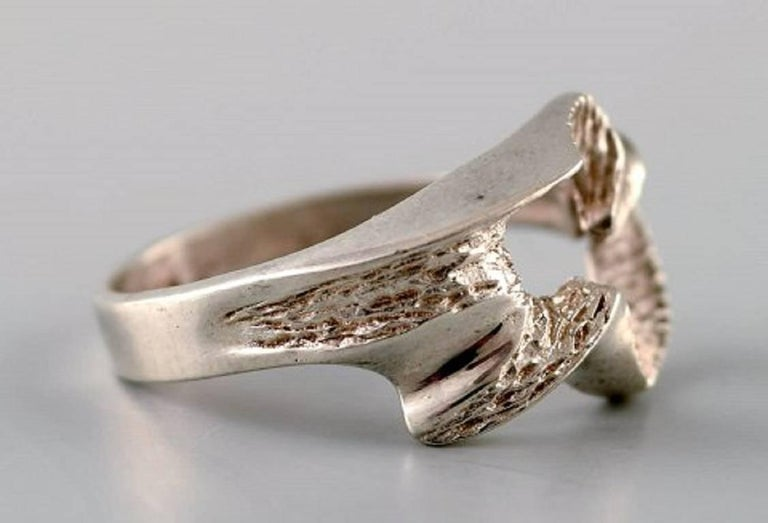 Swedish modernist silver ring. Size: 18 mm. US size 8. Our silversmith can adjust to any size for an additional $50. Stamped: Y7 = 1925. In very good condition. LARGE SELECTION OF modernist SILVER IN STOCK.