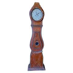 Swedish Mora Clock Brown Folk Art 1834 Antique