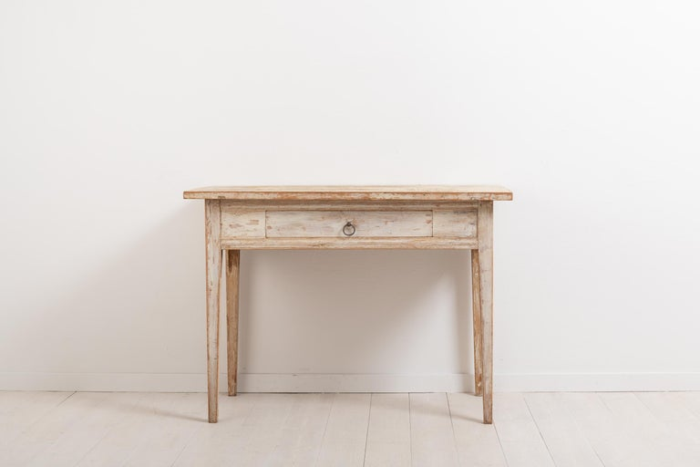 Hand-Crafted Swedish Neoclassic Desk with Original Paint For Sale