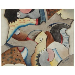 Swedish, New York, and New Mexico Artist Karl Larsson, Abstract Watercolor