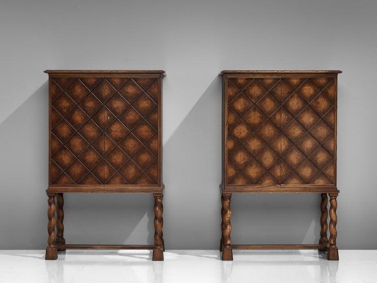Swedish Oak Cabinet For Sale 6