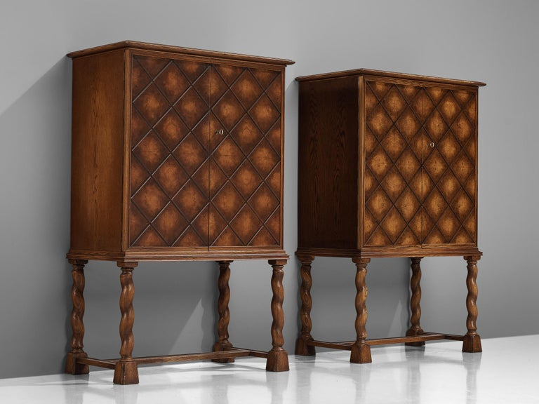 Swedish Oak Cabinet For Sale 7