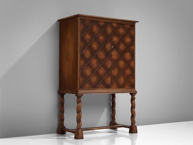 Mid-Century Modern Swedish Oak Cabinet For Sale