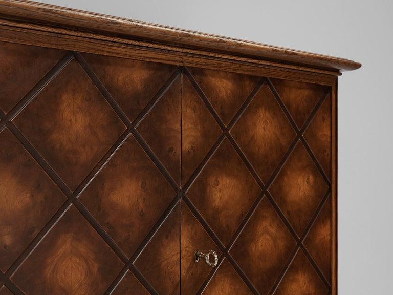 Mid-20th Century Swedish Oak Cabinet For Sale