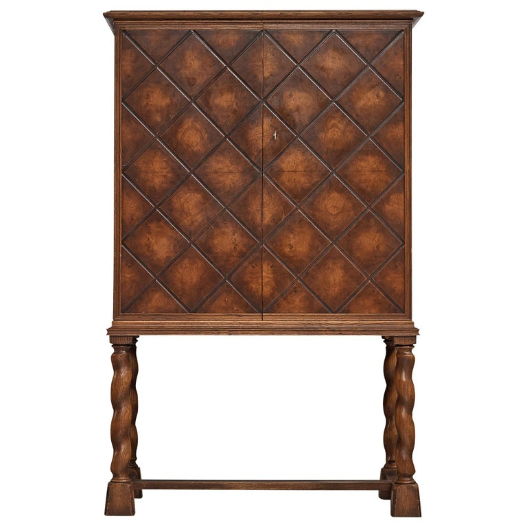 Swedish Oak Cabinet For Sale