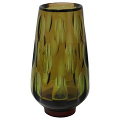 Swedish Optic Glass Vase