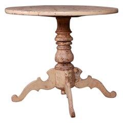Swedish Original Painted Tripod Table
