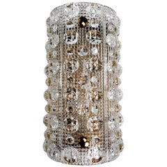 Carl Fagerlund for Orrefors Crystal Bubble Textured Swedish Wall Light, 1950s