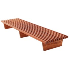 Swedish Oversized Bench / Coffee Table / Daybed in Pine, 1960s