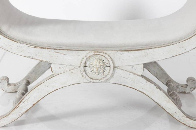 Gustavian Swedish Painted Benches, circa 1880 For Sale