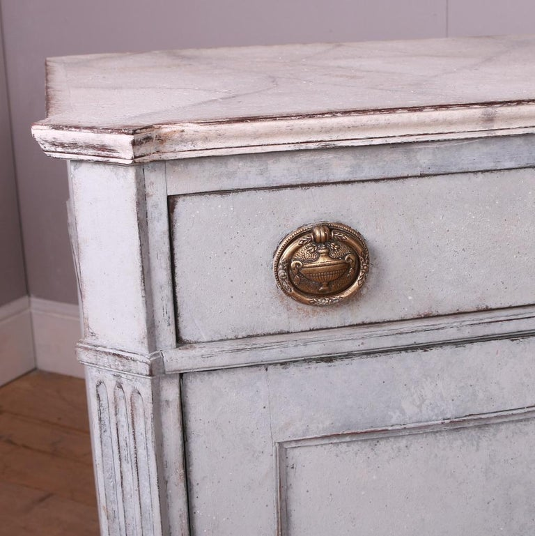 Pine Swedish Painted Buffet For Sale