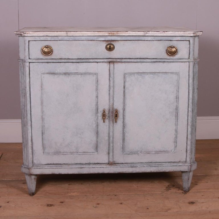Swedish Painted Buffet For Sale 2