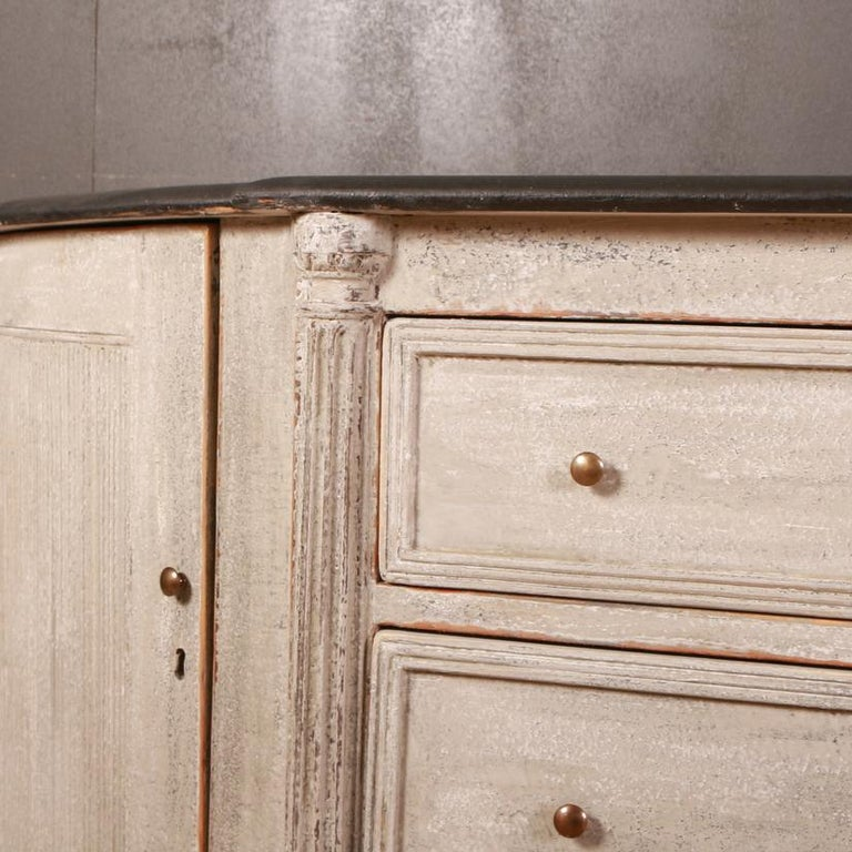 Hand-Painted Swedish Painted Buffet / Sideboard For Sale
