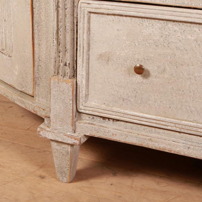 19th Century Swedish Painted Buffet / Sideboard For Sale