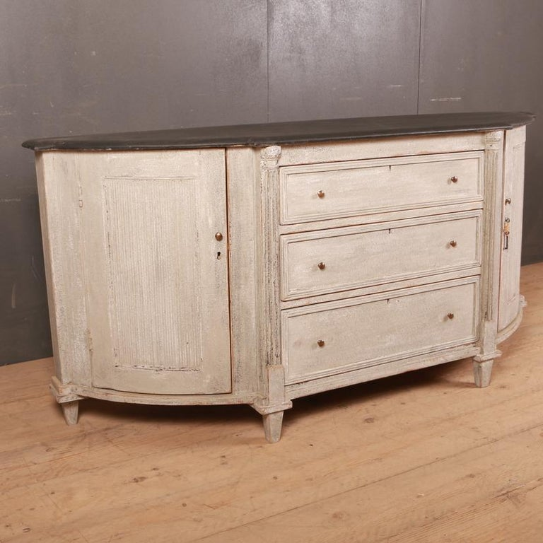 Pine Swedish Painted Buffet / Sideboard For Sale