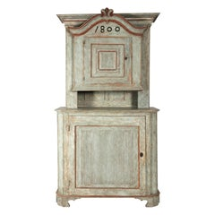 19th Century Swedish Cabinet with Historic Paint