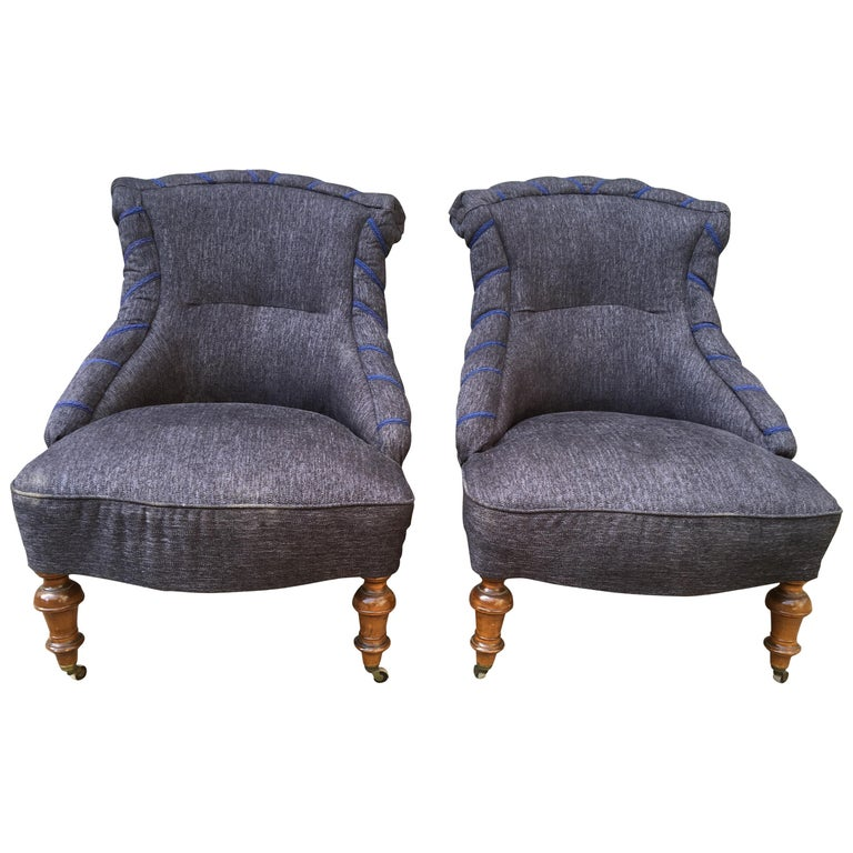 Swedish Pair of 19th Century Lounge Armchairs For Sale